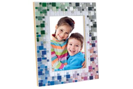 Cadre photo en bois avec vitre - 32 x 26 cm - Cadres photos – 10doigts.fr