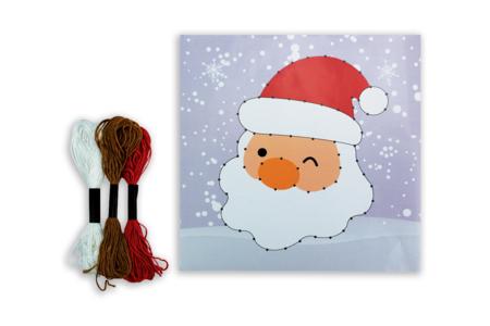Coffret String art Père Noël - String Art – 10doigts.fr