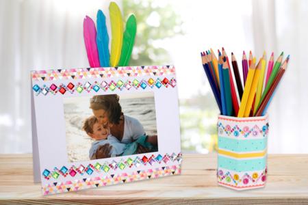 Cadre et pot à crayons Fête des mères - Fête des Mères – 10doigts.fr