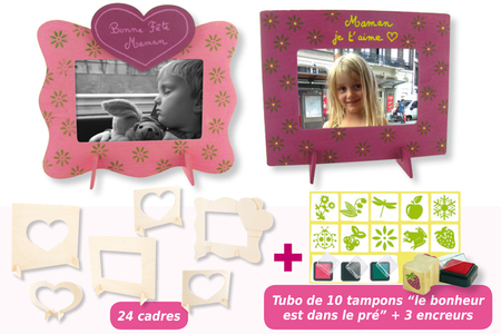 Cadres tampons nature - Cadres, tableaux – 10doigts.fr