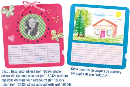 Calendriers d'anniversaires à décorer - Lot de 6 - Accessoires de rentrée – 10doigts.fr