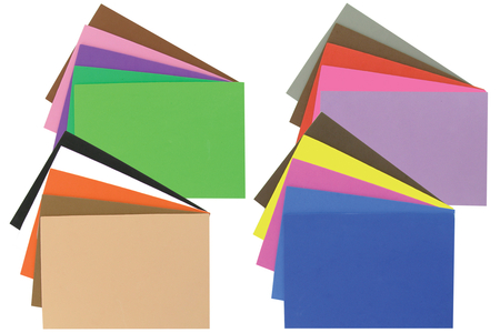 Feuilles mousse adhésives couleurs assorties - Set de 20 - Caoutchouc souple auto-adhésif – 10doigts.fr