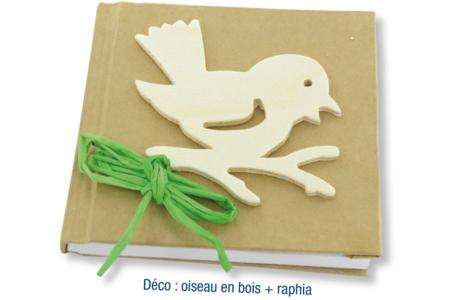 Carnet kraft oiseau - Albums, carnets – 10doigts.fr