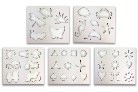 Carnet de pochoirs - 38 motifs - Pochoirs à dessin – 10doigts.fr