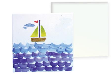 Carreau en porcelaine à décorer - Supports en Céramique et Porcelaine – 10doigts.fr