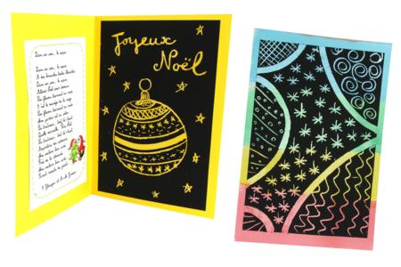 Set de 4 plaques en carte à gratter pour poignées de porte  + 4 grattoirs - Activités enfantines – 10doigts.fr