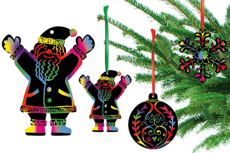 Carte à gratter Motifs de Noël - Cartes à gratter – 10doigts.fr