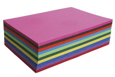 Papiers colorés 32.5 x 50 cm - 60 feuilles - Papiers couleurs – 10doigts.fr