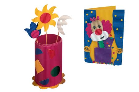 Carton ondulé en rouleau 50 x 70 cm, couleurs vives ou métallisées - Carton ondulé – 10doigts.fr