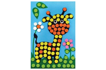 Carte mosaïques Girafe - Mosaïques adhésives – 10doigts.fr