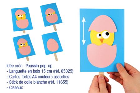 Languettes en bois naturel - 100 pcs - Bâtonnets, tiges, languettes – 10doigts.fr