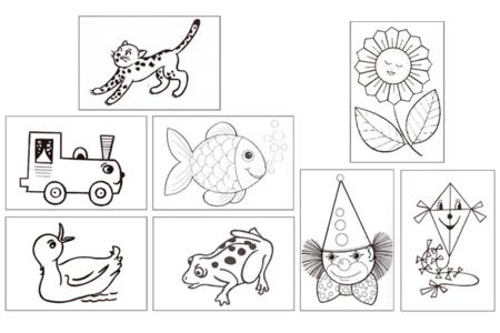 Cartes postales à colorier et à broder - Activités enfantines – 10doigts.fr