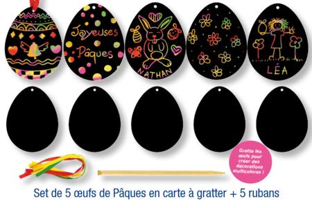 Cartes à gratter Oeufs de Pâques - Lot de 5 - Carte à gratter – 10doigts.fr