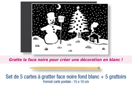 Cartes à gratter vierges + grattoirs - Lot de 5 - Cartes à gratter – 10doigts.fr