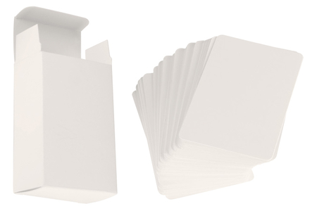 Jeu de 60 cartes et sa boite à customiser - Support blanc – 10doigts.fr