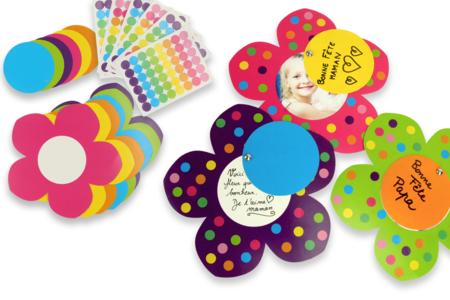Carte mobile Fleur à fabriquer - Cartes et poèmes de fêtes – 10doigts.fr