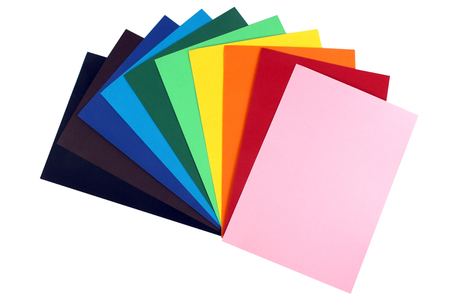 10 cartes 220 gr/m² - 10 couleurs assorties - Carterie – 10doigts.fr