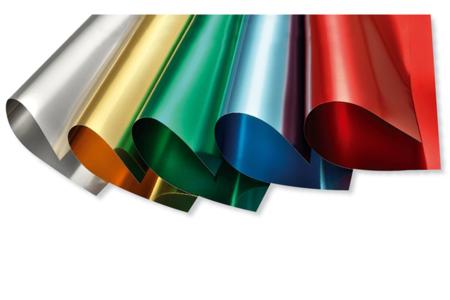 Cartes fortes Alu métallisées - Set de 5 - Papier effet métallisé, pailleté, nacré – 10doigts.fr
