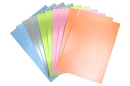 Cartes fortes couleurs nacrées - set de 50 - Papier métallisé, pailleté, nacré – 10doigts.fr