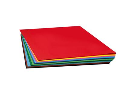 Feuilles 50 x 70 cm - 130 gr - Lot de 10 à la couleur - Carterie – 10doigts.fr