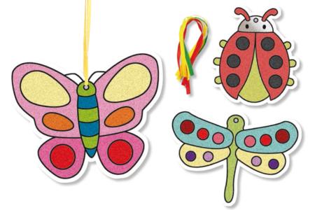 Suspensions insectes à sabler - 8 cartes - Sable coloré – 10doigts.fr