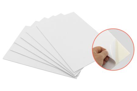 Carton mousse adhésif simple face - Carton Plume et Polystyrène – 10doigts.fr
