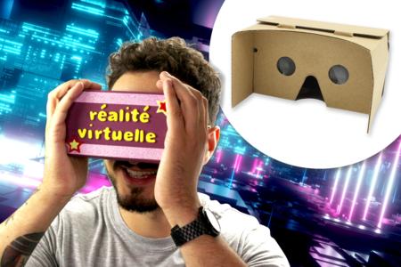 Casque de réalité virtuelle en carton - Objets pratiques du quotidien – 10doigts.fr