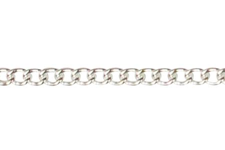 Chaîne petit maillon argentée - 1 m - Colliers et chaines – 10doigts.fr