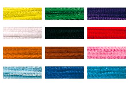 Chenilles à la couleur Ø 6 mm - Lot de 25 - Chenilles, cure-pipe – 10doigts.fr