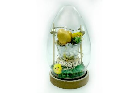 Oeuf cloche 19.5 cm - Transparent – 10doigts.fr