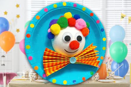 clown assiette enfant activité carnaval - Tête à Modeler