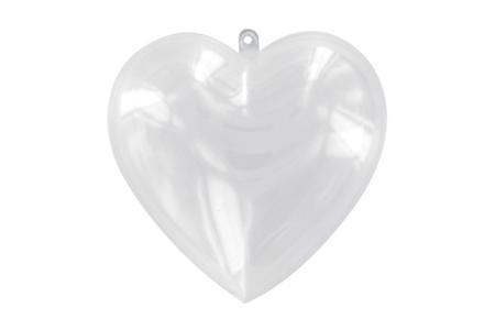 Coeur en plastique transparent 3 en 1, à suspendre - Décos de Noël à suspendre – 10doigts.fr