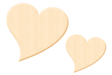Coeur fantaisie en bois naturel - Taille au choix - Motifs brut – 10doigts.fr