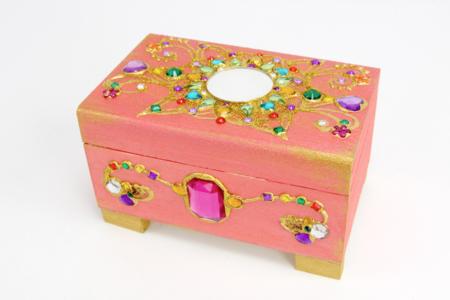 Coffre bijoux précieux - Bijoux – 10doigts.fr