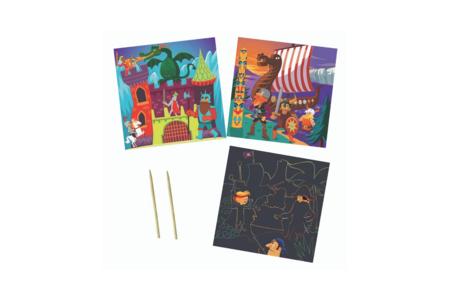 Coffret cartes à gratter - Aventures - Cartes à gratter – 10doigts.fr