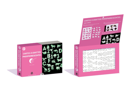 Coffret cartes à gratter Phosphorescentes - Carte à gratter – 10doigts.fr