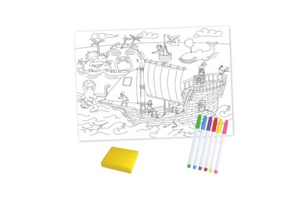 Coffret Pirates - Coloriage Magique Effaçable - Support pré-dessiné – 10doigts.fr