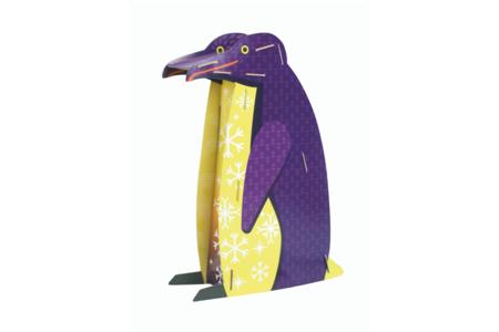 Coffret Pingouin - Lampe à construire - Maquettes en carton – 10doigts.fr