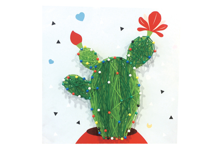 Coffret String art Cactus - String Art – 10doigts.fr