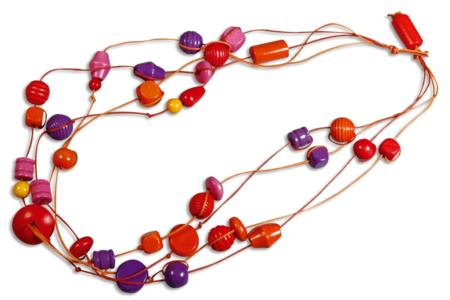 Colliers avec grosses perles en bois - Bijoux – 10doigts.fr