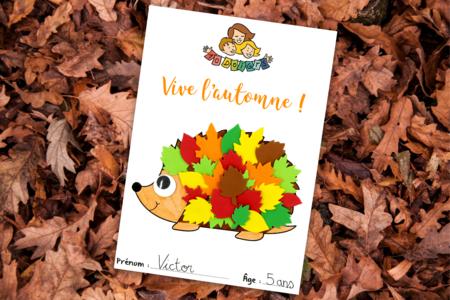 Coloriage et collage Hérisson - Activités enfantines – 10doigts.fr