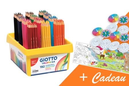 GIOTTO colors 3.0 - coffret de 192 crayons de couleurs + CADEAUX - Crayons de couleurs – 10doigts.fr