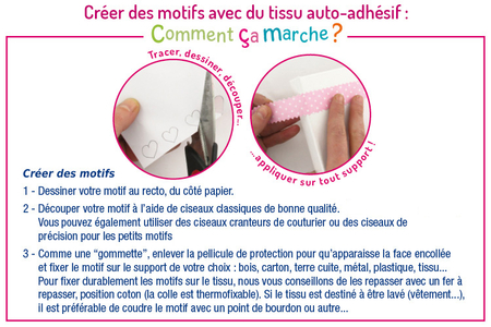 Tissu adhésif Vichy Fushia - Tissu auto-adhésif – 10doigts.fr