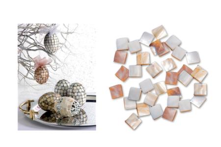 Mosaïques nacre naturelle carrées - 50 gr - Mosaïques Pierres et Nacres – 10doigts.fr