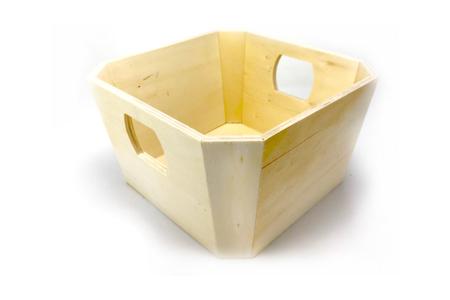 Corbeille en bois carrée - Corbeilles et paniers – 10doigts.fr