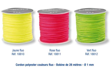Cordon queue de rat fluo - 28 mètres - Fils en Satin et queue de rat – 10doigts.fr