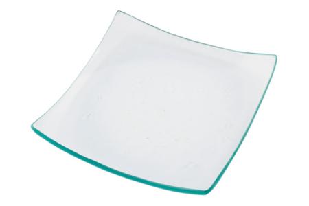 Coupelles carrées incurvées en verre - 12 pièces - Supports en Verre – 10doigts.fr