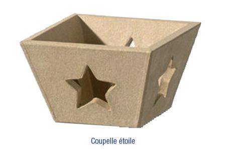 Coupelle étoiles, en carton papier mâché - Plateaux, corbeilles, vide-poches – 10doigts.fr