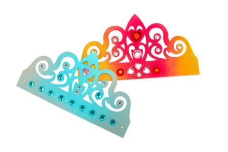 Couronnes diadème de princesse + strass - Lot de 6 - Mardi gras, carnaval – 10doigts.fr