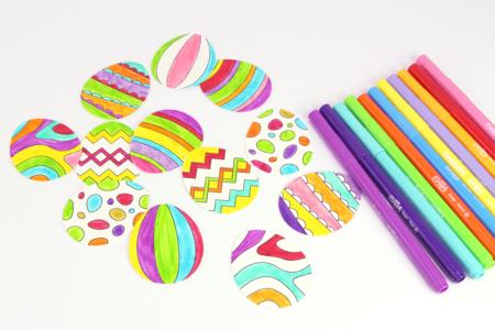 Couronne de Pâques lapin et œufs - Kits activités de Pâques – 10doigts.fr
